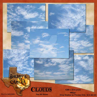 Clouds 10-Photo Pack by Sherrys-Camera