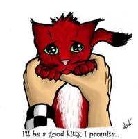 . AkuRoku . Be a good kitty. by BouneLiLLy