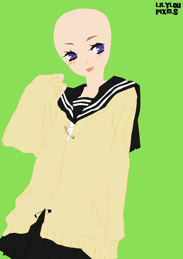 girl base 1 by littlelilyluna on deviantart