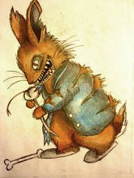 Evil Peter Rabbit by Mellybean91