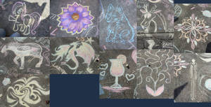 Chalk Drawing Collage