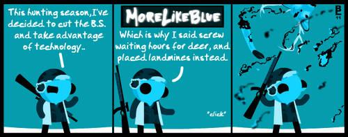 MoreLikeBlue: Deer by MrGobi