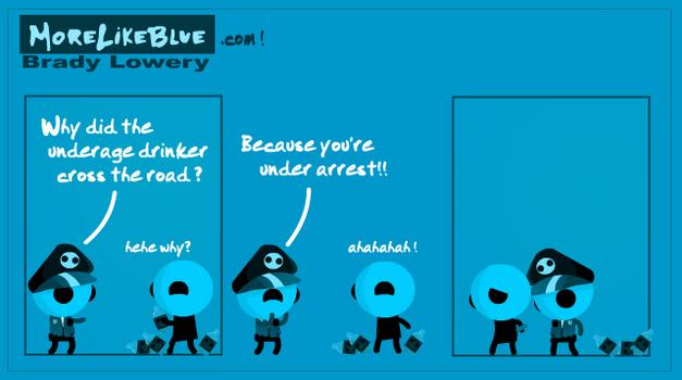 MoreLikeBlue: Arrest