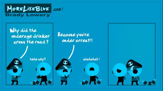 MoreLikeBlue: Arrest by MrGobi