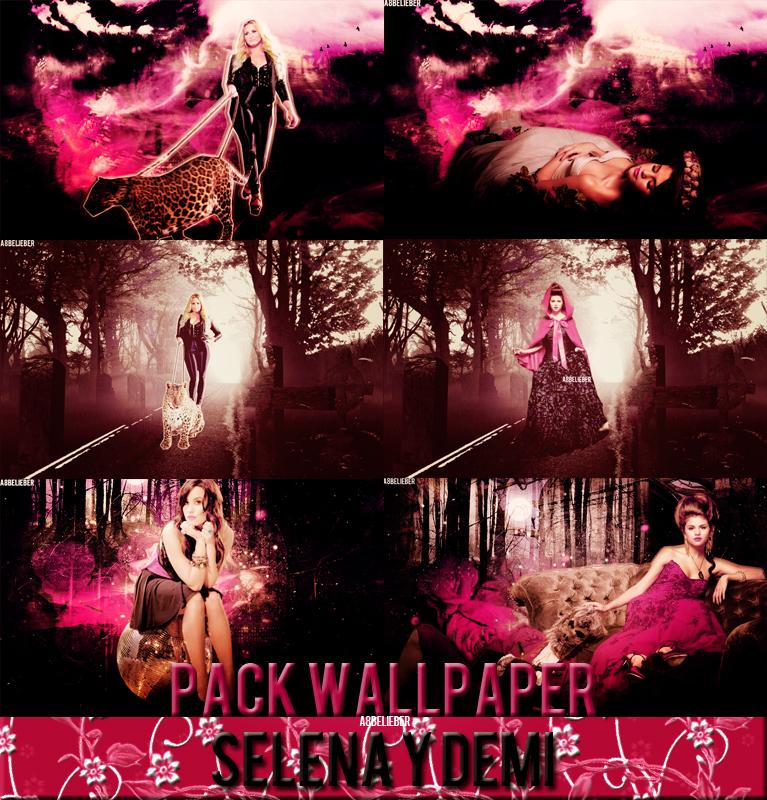 Demi y Selena Halloween Wallpaper's Pack by A8Belieber