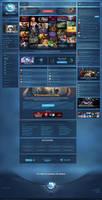 Gaming Community Website by TripleSkill