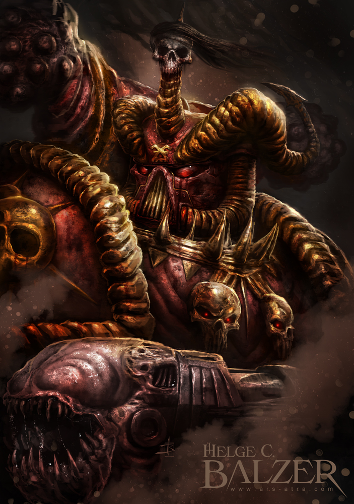 Chaos Space Marine by helgecbalzer on DeviantArt  Chaos Space Mar...