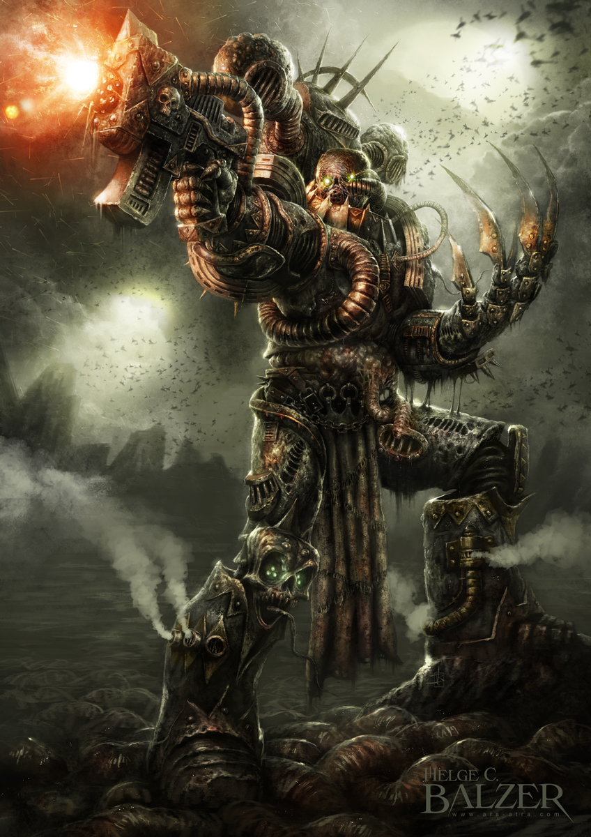 [W40K] Collection d'images : Space Marines du Chaos - Page 6 Nurgle___chaos_space_marine_by_helgecbalzer-d85kair