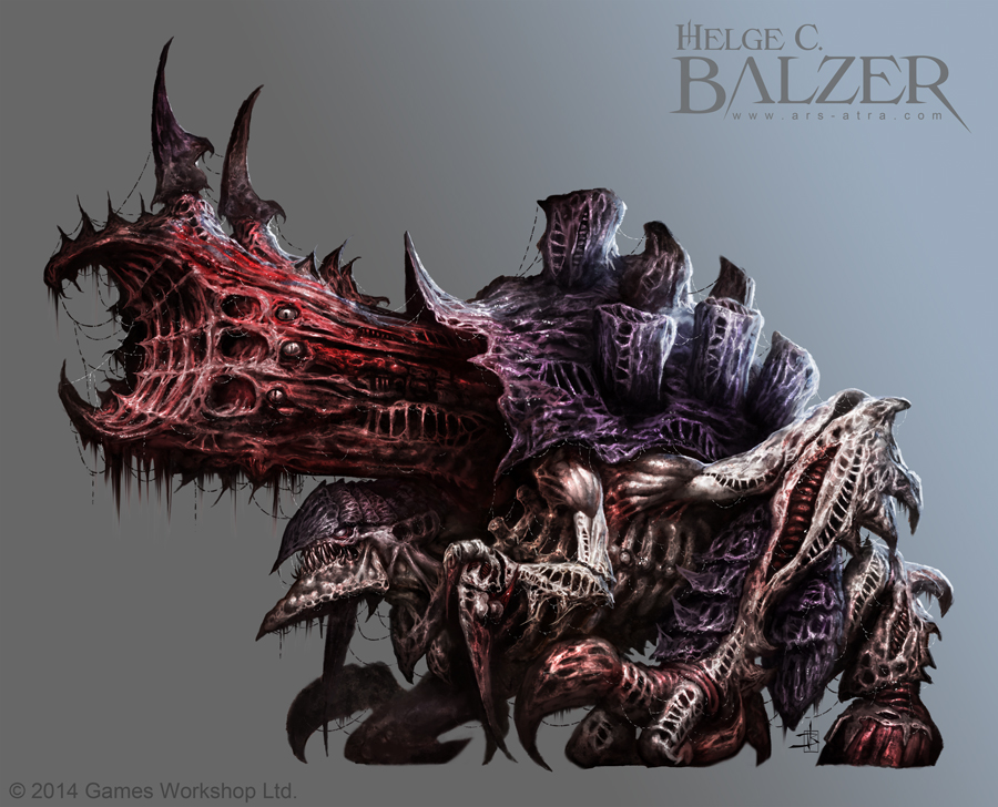 Tyranid - Exocine - (c) Games Workshop by helgecbalzer