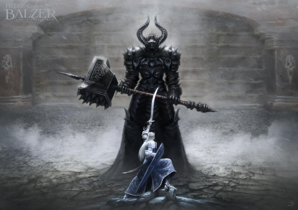 Morgoth and Fingolfin. by helgecbalzer