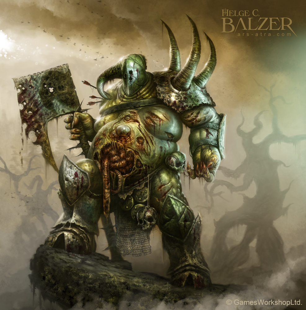 Warhammer - Nurgle Lord of Chaos - (c) GW by helgecbalzer ...