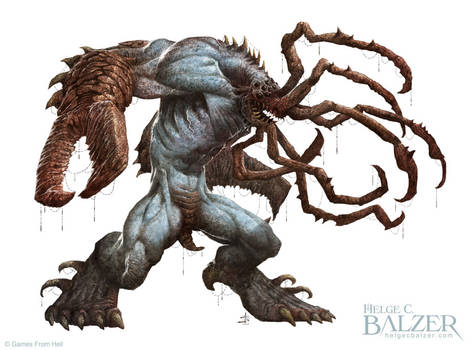Dragger- Creature - Fantasy Art by Helge C. Balzer