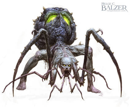 Spider Mutant - Fantasy Art by Helge C. Balzer