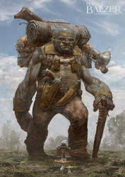 Orc meets Smurf - Fantasy Art by Helge C. Balzer