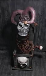 Death In The Box OOAK Sculpture for Sale