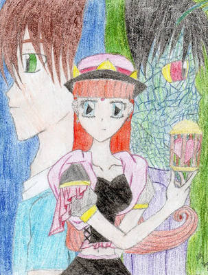 Girl and the man she loves in two forms by HybridCatgirl995