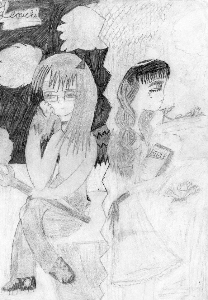 Old Picture of Devil and Angel lolz XD by HybridCatgirl995