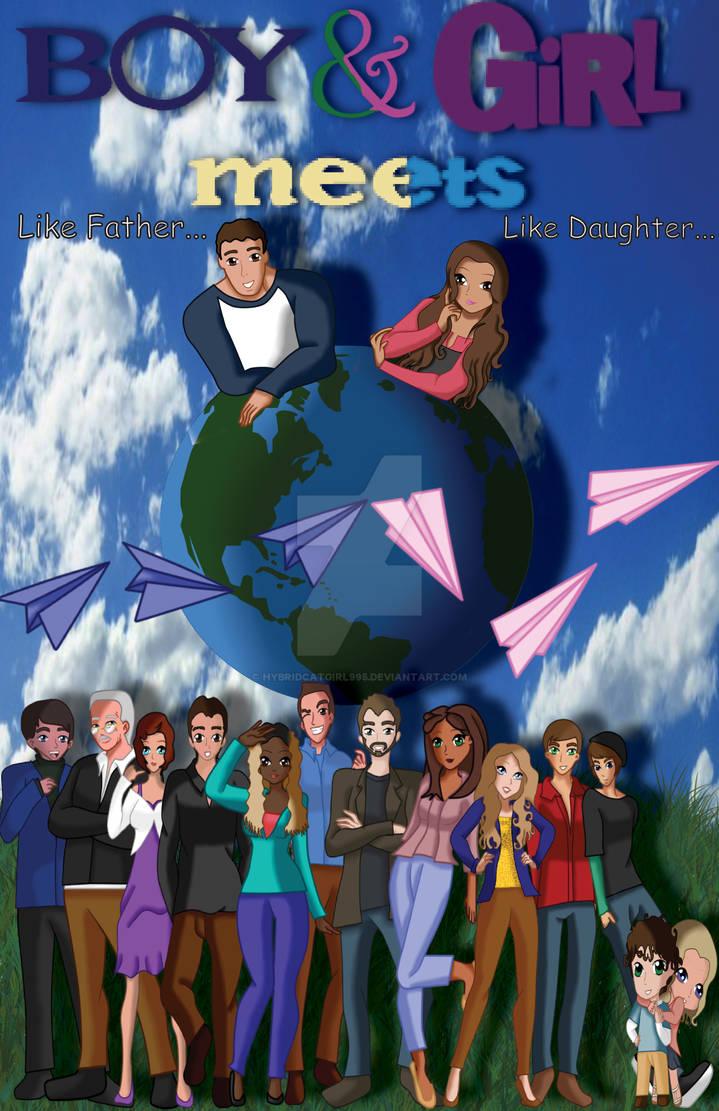 Boy  Girl Meets World Cartoon Poster by HybridCatgirl995