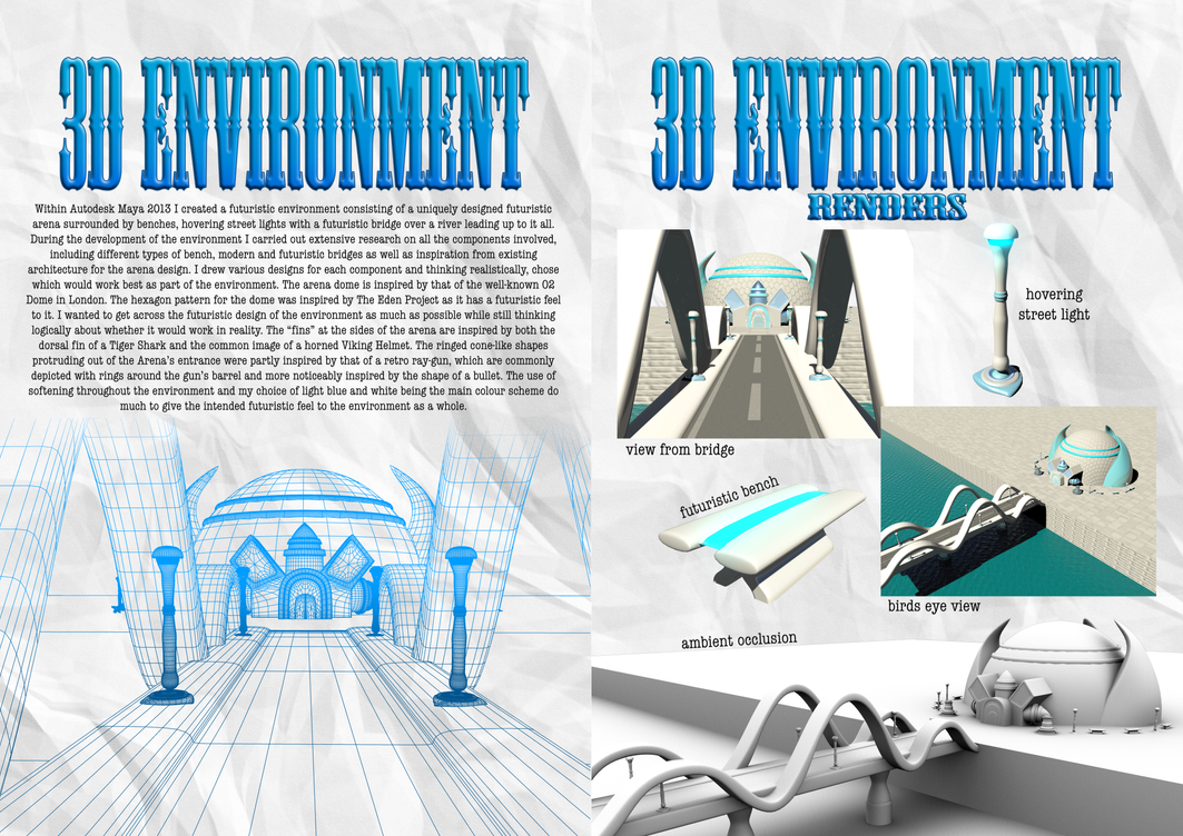 Futuristic 3D Environment | Portfolio Pages by ...