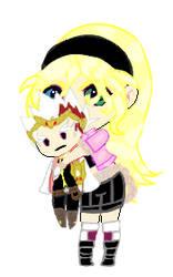 Julia Holding Ryuga Plushie ( AT)