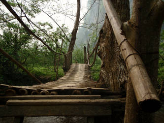 Bridge to the Caves by caidogirl