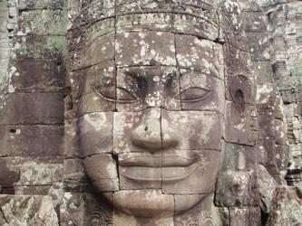 Smiling Angkor by caidogirl
