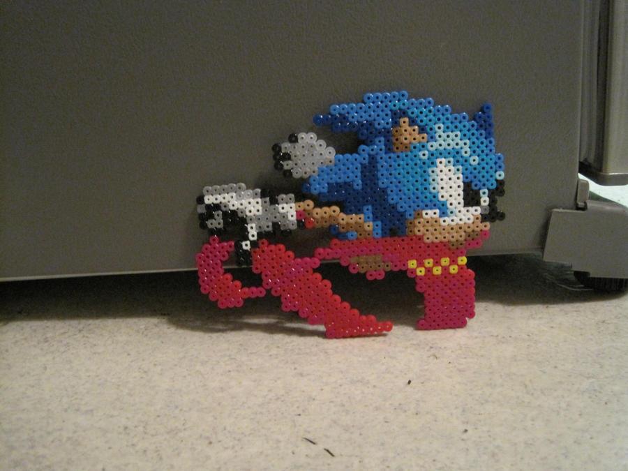 Sonic Super Peel Out Perler Bead By Scott Ko On Deviantart