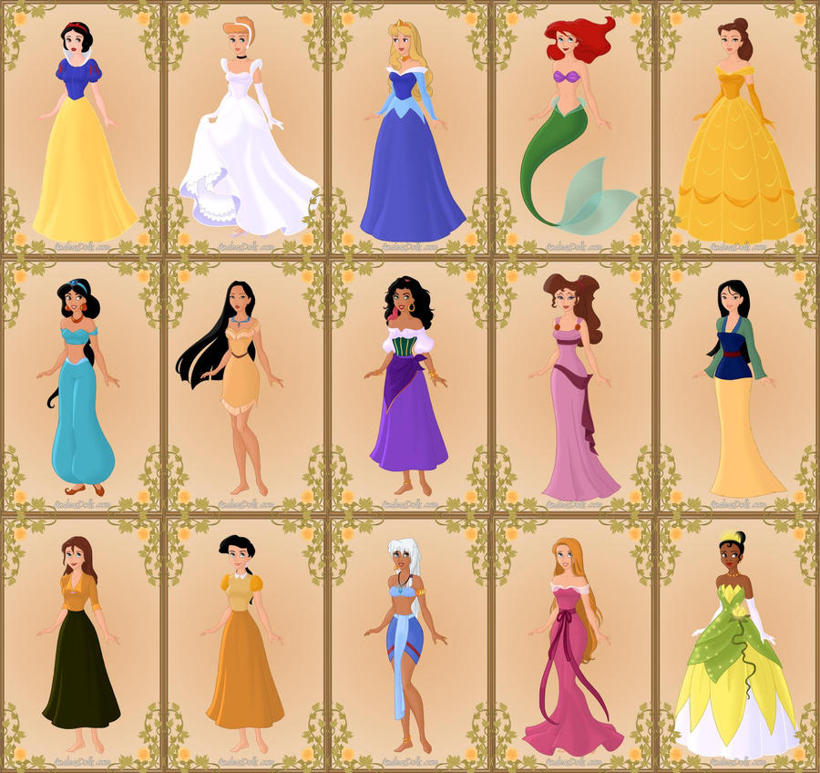 Disney Princess List