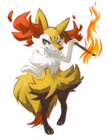 Braixen by chirenbo