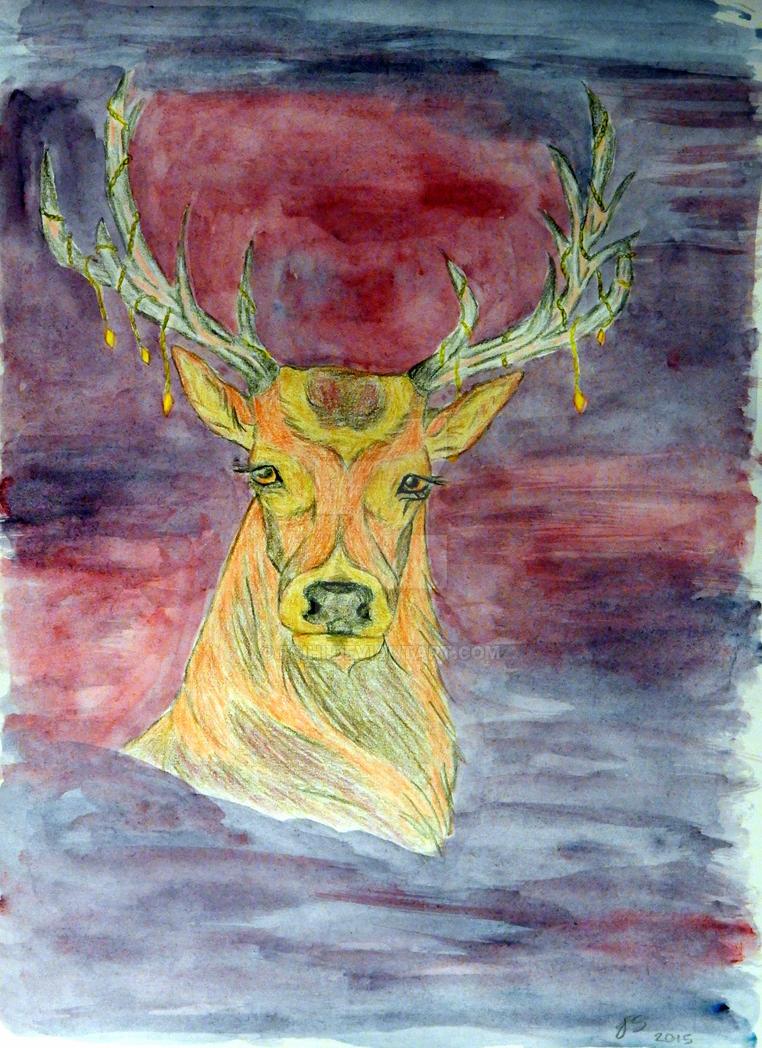 Deer by Fsihi