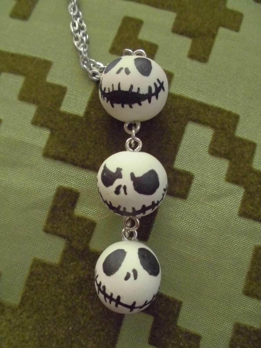 Custom Jack Skellington Necklace by Lord-Ackbar