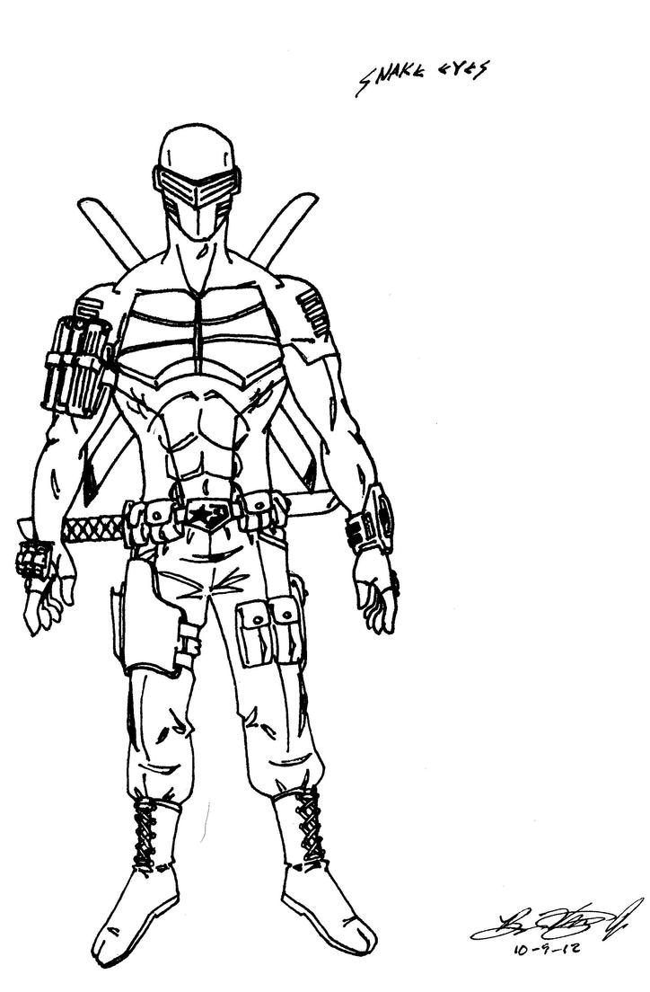 Snake Eyes line art by AlexDino on DeviantArt