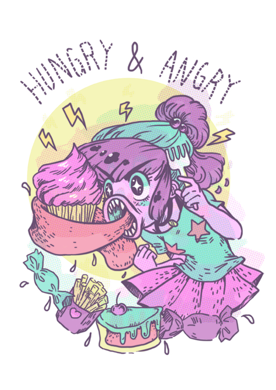 hungry and angry by mallary
