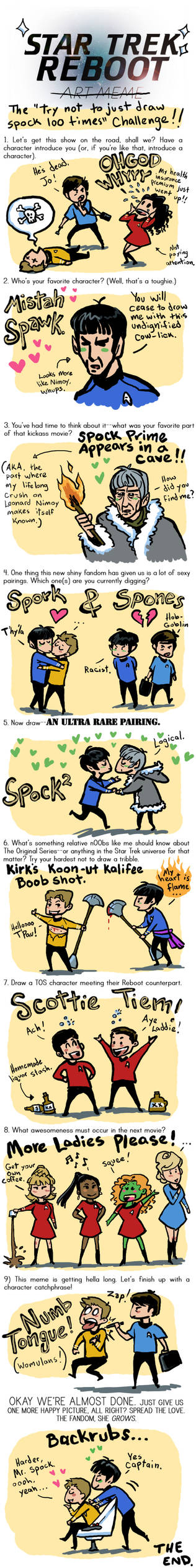 Star Trek Reboot Art Meme