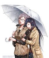 Under an Umbrella by Gumbat-Art