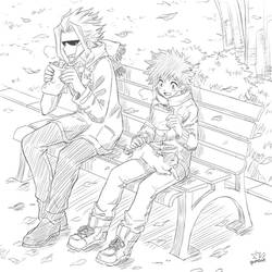 All Might and Deku by Gumbat-Art