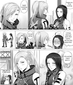 Matching Outfit -one page manga-