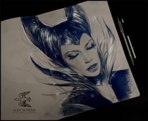 maleficent by AlexSorsa