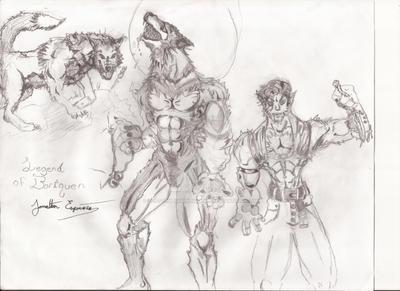 Legend of Boriquen Lycanthrope Werewolf by LostTribesManlyAnime