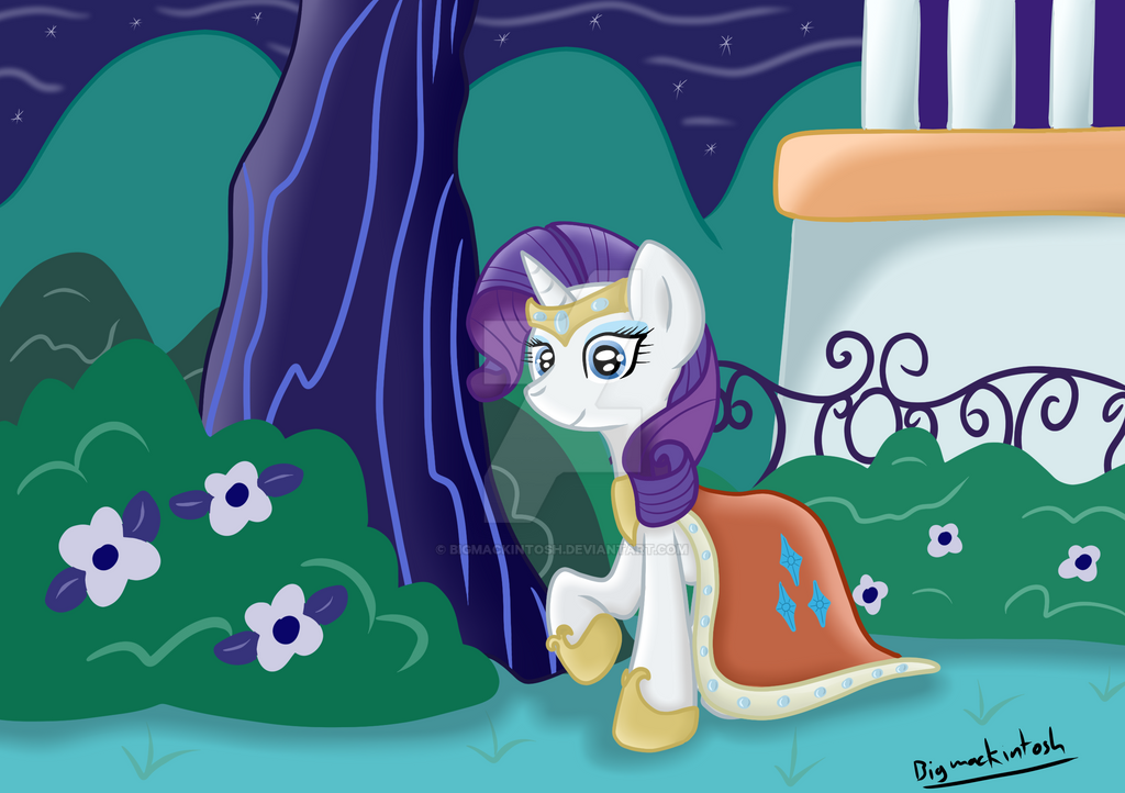 rarity_at_the_canterlot_garden_party_by_