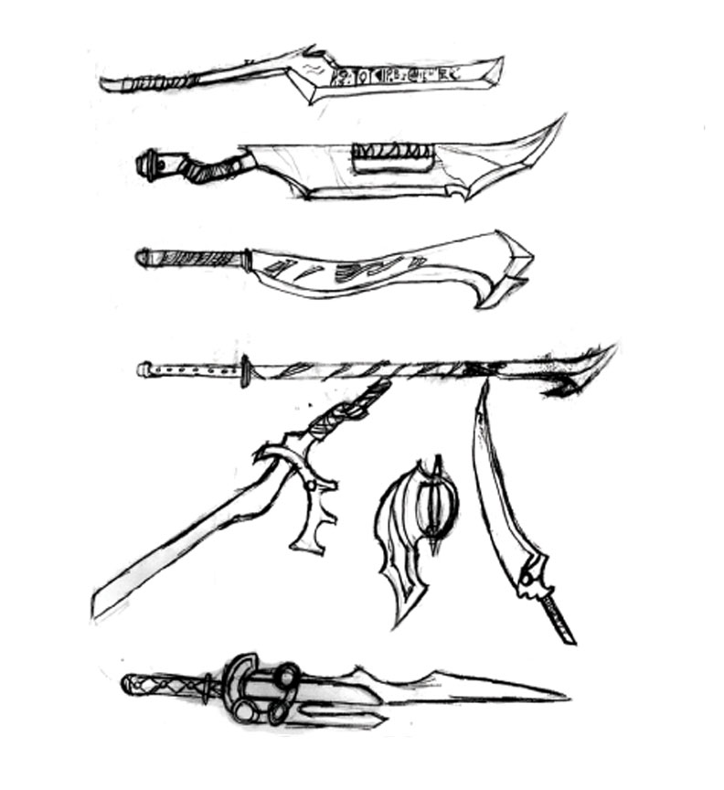 weapons by Kazaragi
