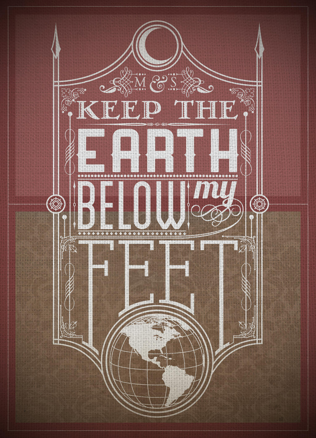 Mumford Typography (Earth) by jss743