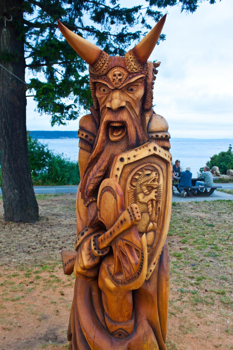 Viking carving by ackbad on deviantart