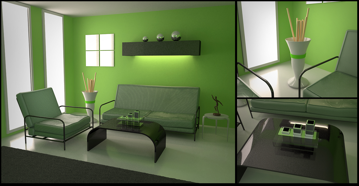 Green room for Room design green