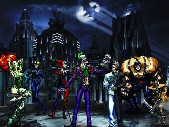 Arkham villains wallpaper by ethaclane