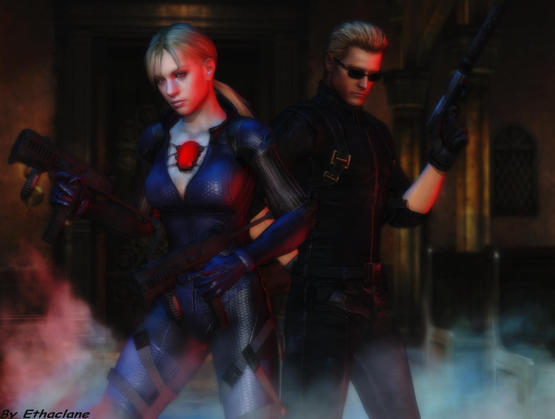 Resident Evil Wallpaper Jill And Wesker By Ethaclane On Deviantart