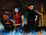 Resident evil wallpaper Chris and Claire