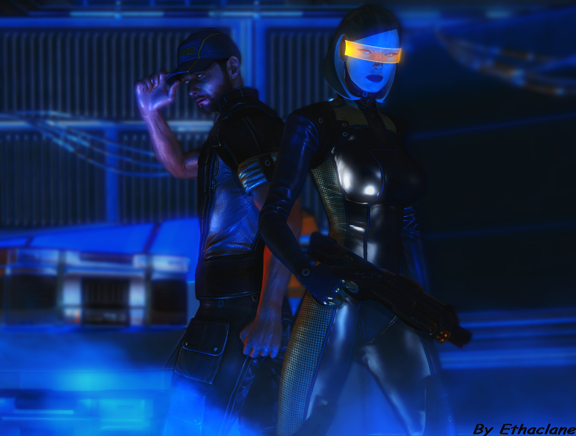Mass effect wallpaper 11 - Joker and Edi by ethaclane