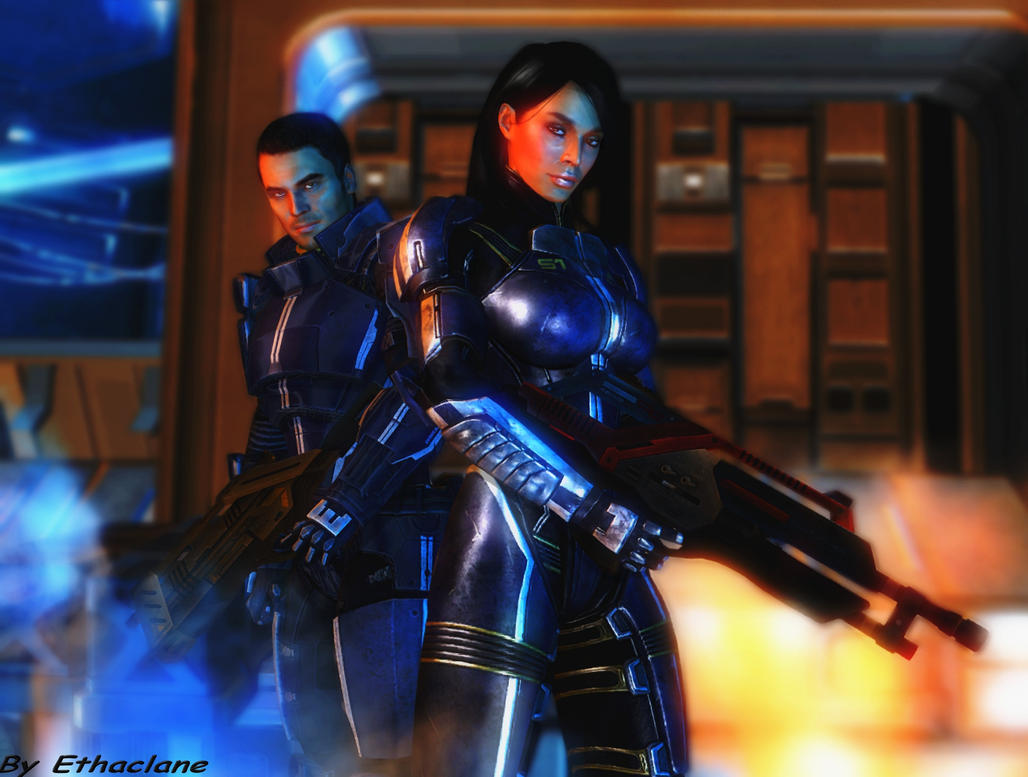 Mass effect wallpaper 13 - Kaidan and Ashley by ethaclane