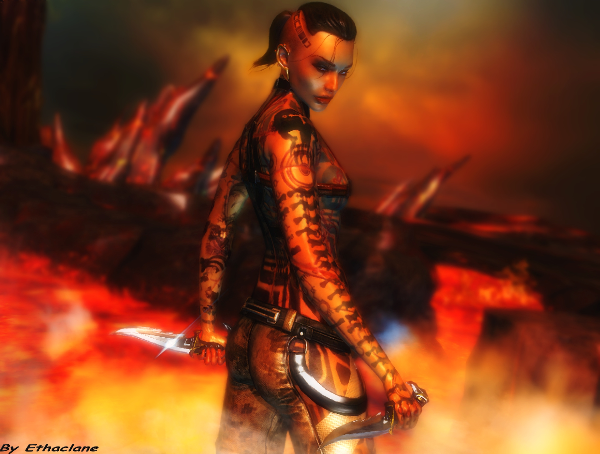 Mass effect wallpaper 15 - Jack 4 by ethaclane